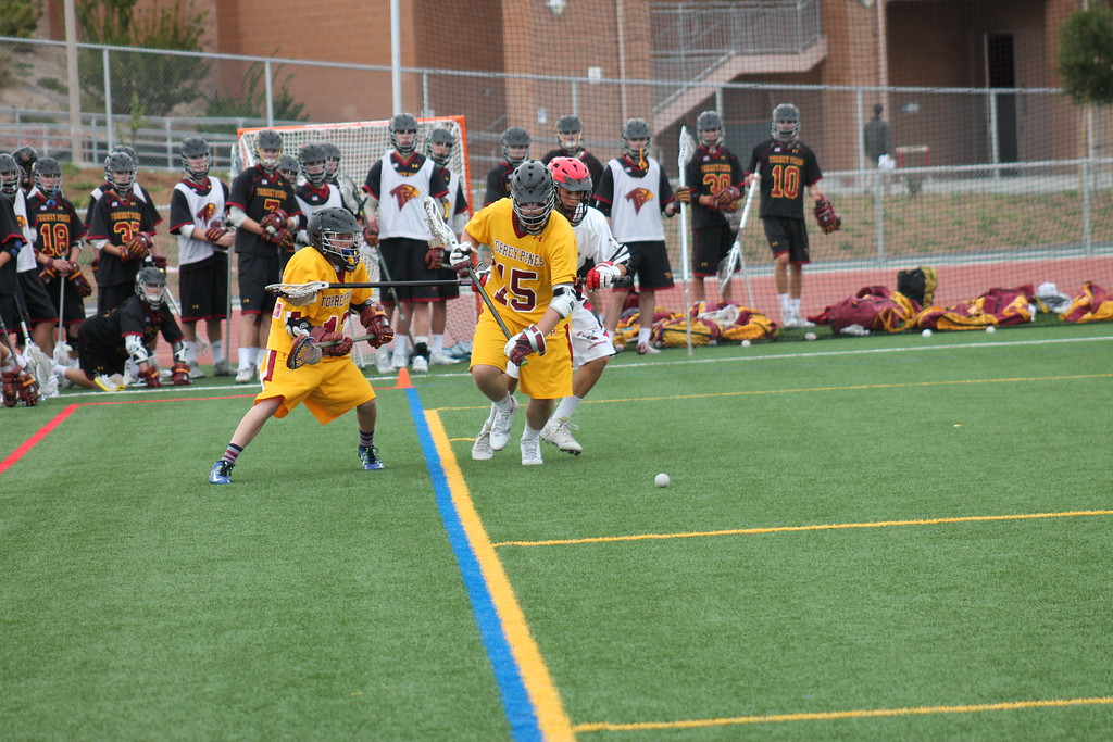 Nick (#12) in action on the LaCrosse Field