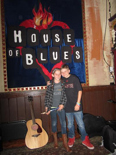 Nick and Lexi playing at The House of Blues