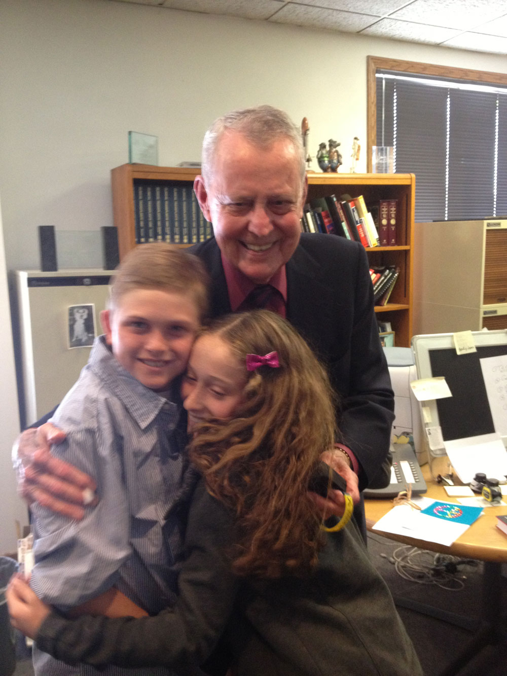 Nick and Lexi with Dr. Thomas Starzl (who performed the first successful liver transplant) 2013