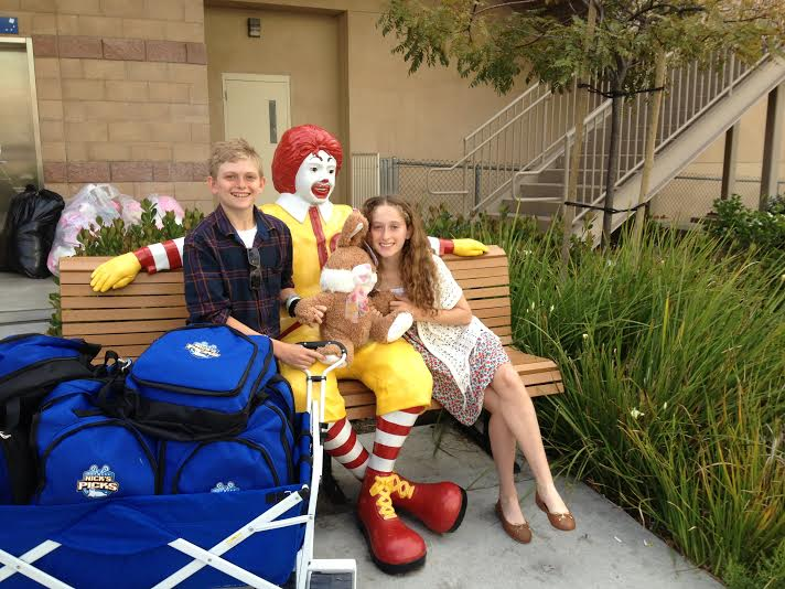 Nick and lexi with Ronald McDonald